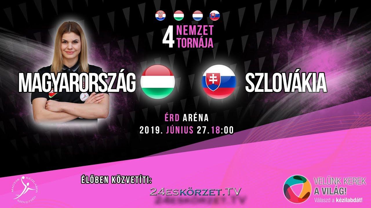 4 Nemzet Torna Érd: Magyarország - Szlovákia Junior válogatott kézilabda mérkőzés