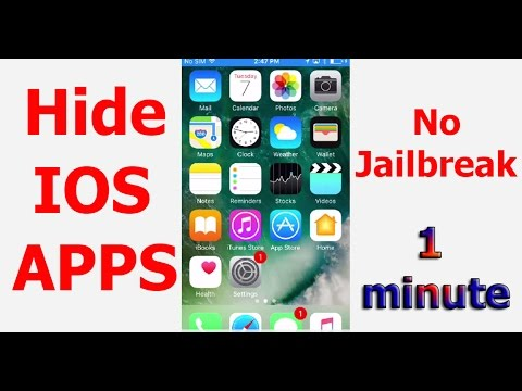 How to Disable/Hide IOS Apps From Home Screen (without Jailbreak) ᴴᴰ