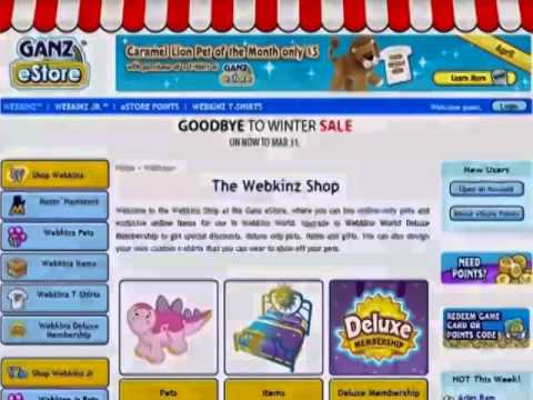 Welcome to the Webkinz Code Shop!