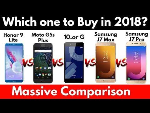 Honor 9 Lite Vs Moto G5s Plus Vs Samsung J7 Max vs Samsung J7 Pro _ Comparison __HD