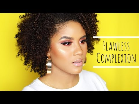 SNATCHED! MY FOUNDATION, HIGHLIGHT & CONTOUR ROUTINE FOR OILY COMBO SKIN | CURLSFOTHEGIRLS