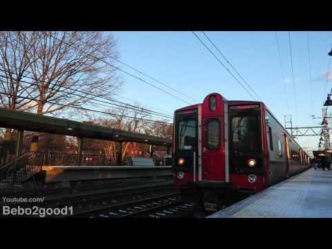 Metro-North Railroad: 1 Danbury & 3 EMUs Trains at Pelham, NY RR