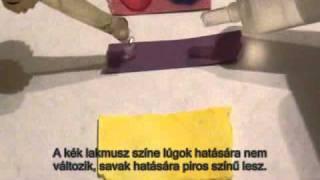 Lakmuszpapírok, kurkumapapír színváltozásai