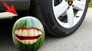 Crushing Crunchy & Soft Things by Car! EXPERIMENT:  WATERMELON VS CAR