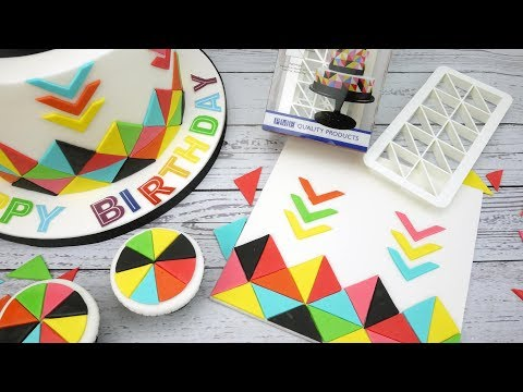 Geometric Icing Cake Decorations Tutorial