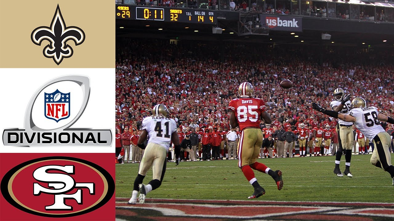 Saints vs 49ers 2011 NFC Divisional