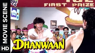 Ajay wins the ice fight | Dhanwaan | Movie Scene