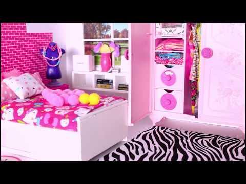 Barbie Girl Sweet Bedroom  Decoration  Tia Tia