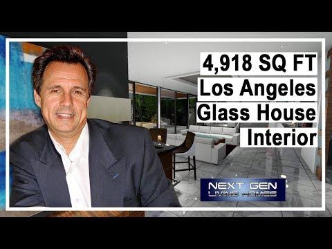 Los Angeles Glass House Interior walk through