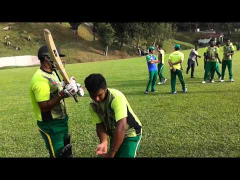 Daffodil cricket team at UKM in Malaysia for practice of 7th international tournament 2014