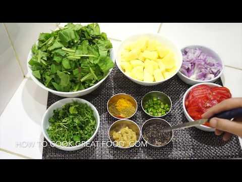 Spinach Potato Curry Recipe - Saag Aloo - Palak - Vegan Recipes