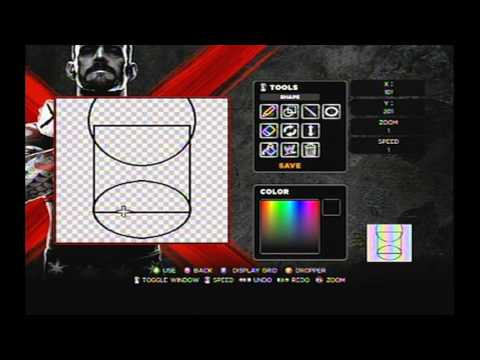 WWE 13 Masters of the Universe He-man Cross Paint Tool Tutorial