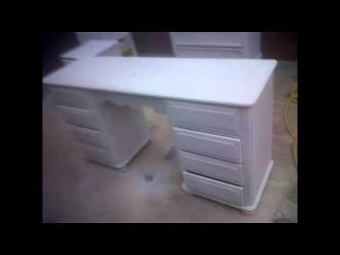 how to paint furniture, spray paint /hand painted furniture / pine units resprayed orchid white