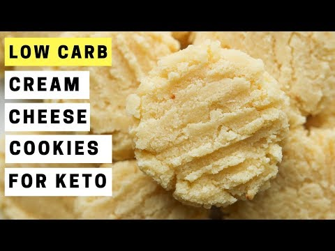 Low Carb Cream Cheese Cookies Recipe For Keto (1.5 NET CARBS)