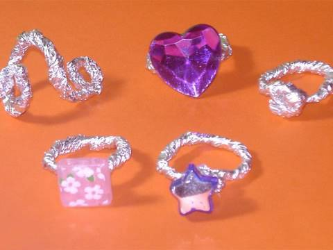 How to make aluminium paper rings - EP - simplekidscrafts