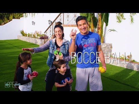 How to Play Bocce Ball with Mario Lopez and Family
