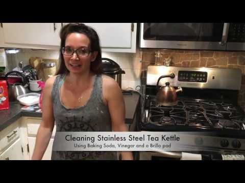 Cleaning a stainless tea pot - the natural way