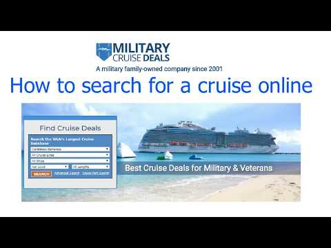 Military Cruise Deals Discount Search Feature