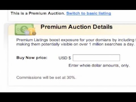 How To Sell A Domain Name (GoDaddy Auctions)