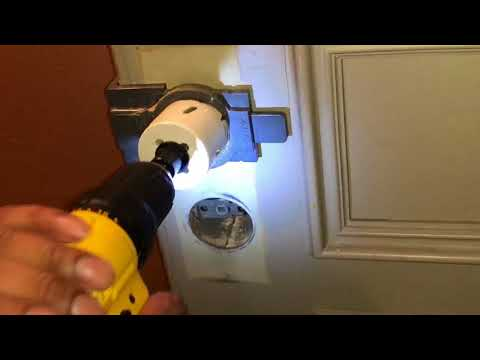 How to install trubolt electronic deadbolt and drill hole in Metal door