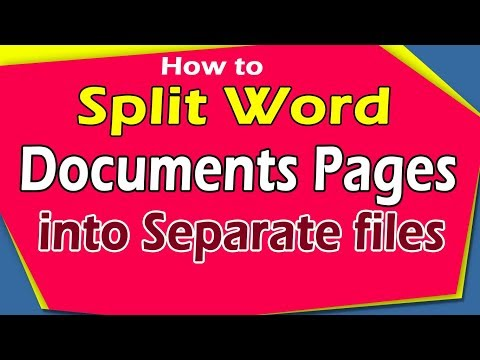 How to Split Word document pages into separate files?