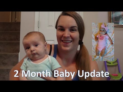 Annabelle's 2 Month Baby Update! [Breastfeeding, Smiling, and Rolling Over!]