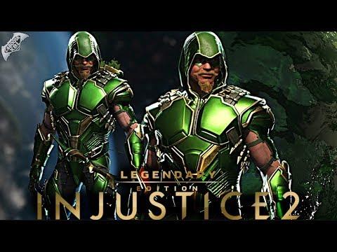 Injustice 2 Online - EPIC GREEN ARROW HOOD GEAR!