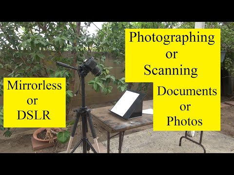 Scanning Documents using Tripod, Digital Camera, and Book Holder or Music Stand. No Copy Stand.