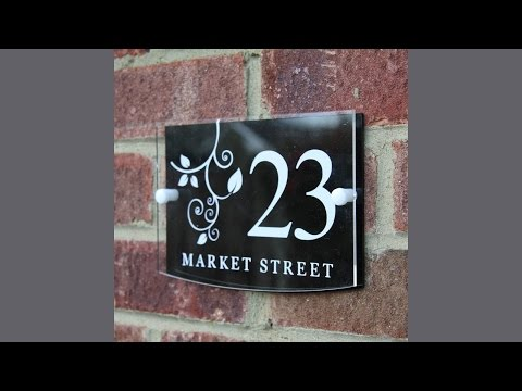 UK Sign Shop House Sign, Address Plaque Plate Modern with Door Number