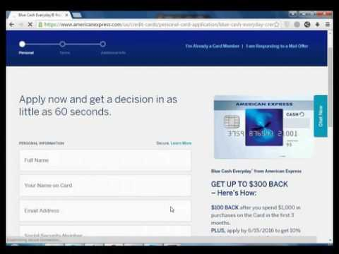 How to Apply to American express credit card