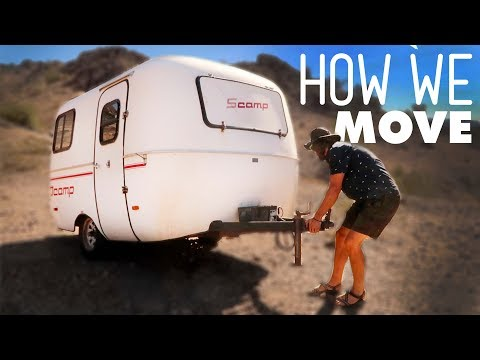 How we PACK UP and MOVE the 13ft SCAMP Trailer