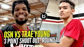 OSN vs Trae Young 3 Point Contest Round 1! WHO WINS!??!? 😂😂 BIL All American Practice