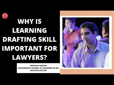 Why is learning drafting skill important for lawyers?
