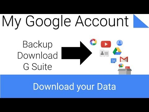 How to download data from a G Suite Account