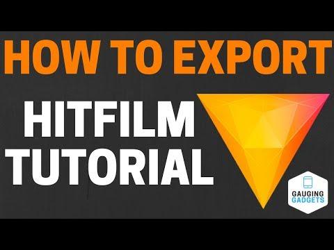 How to Export In HitFilm Express 2017 / 2018 - Export Queue Tutorial