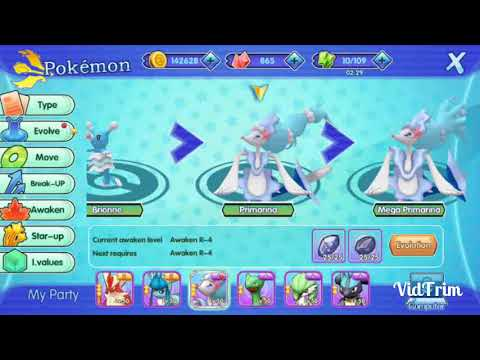 Pocketown: My Primarina mega evolve and I have for more as Well.