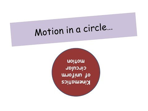 Motion in a circle -  A level Physics