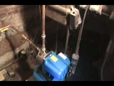 Booster pump tp boost city water pressure