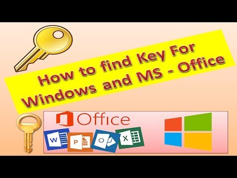 How to find key of any windows & MS Office for free