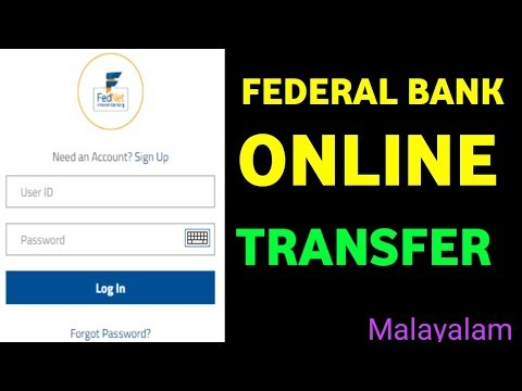 How to Online money transfer federal bank|| federal bank online money transfer all country