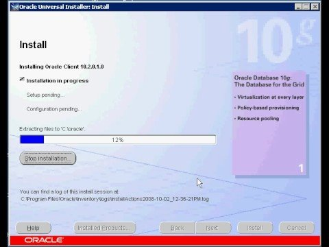 How to install oracle client on windows