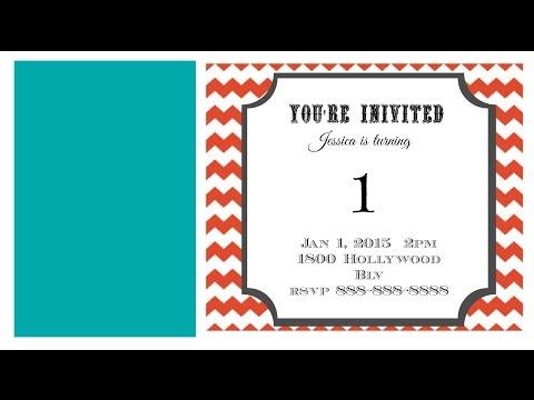 How to Make a Photo Birthday Invitation