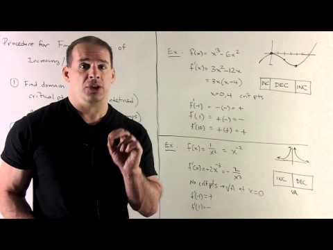 Increasing/Decreasing and Derivatives 2