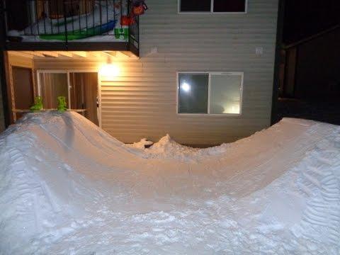 My Backyard Snowboard Halfpipe