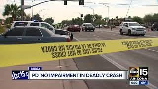 Deadly crash leaves one dead in Mesa