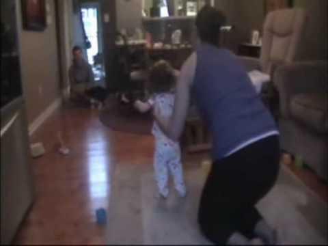 Toddler Learning to Walk Falling