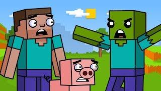 Survival & The Zombie | Block Squad (Minecraft Animation)