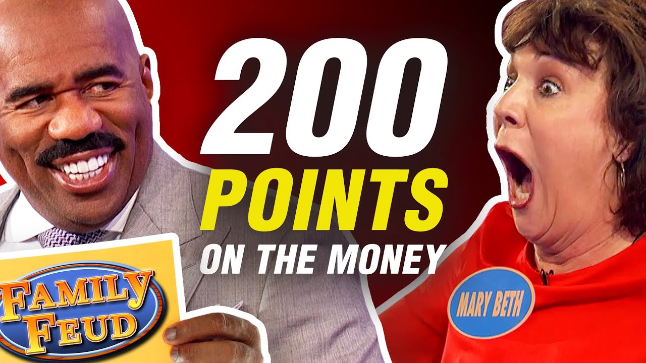 Perfect 200-point Fast Money rounds on Family Feud!