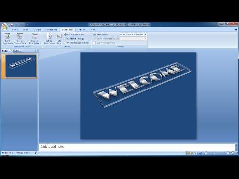 Tutorial powerpoint 2007 |Cara Membuat Teks 3D Silver Wordart in Powerpoint