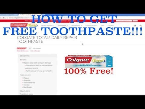 How to get FREE TOOTHPASTE!!! Awesome Life Hack!!!